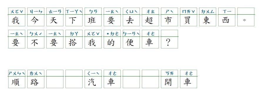 Học tiếng Hoa - 搭便車 - 2021-07-06